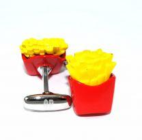 Gemelos para camisas Cracked Pepper Modelo Patatas Fritas - Salty Fries
