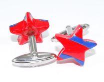 Gemelos para camisa Unoiss Estrellas Rojas y Azules