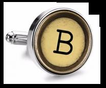 Gemelo de Camisa Magglass Boton de Maquina de Escribir Letra Letter B Mod 2 Medio Par