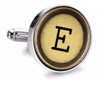 Gemelo de Camisa Magglass Boton de Maquina de Escribir Letra Letter E Mod 2 Medio Par