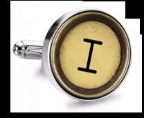 Gemelo de Camisa Magglass Boton de Maquina de Escribir Letra Letter I Mod 2 Medio Par