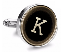 Gemelo de Camisa Magglass Boton de Maquina de Escribir Letra Letter K Medio Par