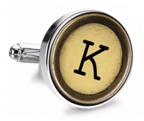 Gemelo de Camisa Magglass Boton de Maquina de Escribir Letra Letter K Mod 2 Medio Par