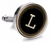 Gemelo de Camisa Magglass Boton de Maquina de Escribir Letra Letter L Medio Par