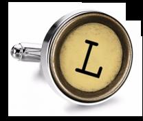 Gemelo de Camisa Magglass Boton de Maquina de Escribir Letra Letter L Mod 2 Medio Par