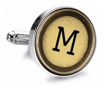 Gemelo de Camisa Magglass Boton de Maquina de Escribir Letra Letter M Mod 2 Medio Par