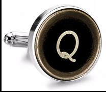 Gemelo de Camisa Magglass Boton de Maquina de Escribir Letra Letter Q Medio Par