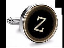Gemelo de Camisa Magglass Boton de Maquina de Escribir Letra Letter Z Medio Par
