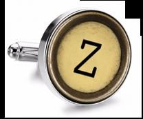 Gemelo de Camisa Magglass Boton de Maquina de Escribir Letra Letter Z Mod 2 Medio Par