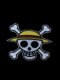 Parche Termoadhesivo Calavera One Piece 8x6,5cm