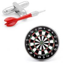 Gemelos Dardo y Diana Red Dart and Dart Board Cufflinks