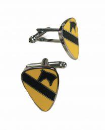 Gemelos de Camisa 1ª Division de Caballeria Estados Unidos 1st Calvary Divison USA 20x15 mm