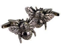 Gemelos de Camisa Abeja Acero Pewter Bee Cufflinks 3D
