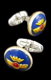 Gemelos de Camisa con Botones Originales Rokiski Aviación Española Mod 4