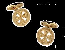 Gemelos de Camisa Cruz de Calatrava Redondo Dorado 17mm