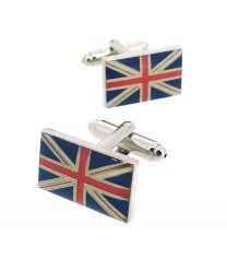 Gemelos de Camisa de Bandera Gran Bretaña Union Jack