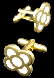 Gemelos de Camisa Flor de Barcelona Golden 15mm