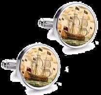 Gemelos de Camisa Magglass Barcos Nº4 16mm