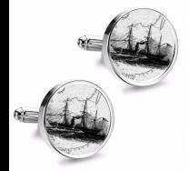 Gemelos de Camisa Magglass Grabados Barcos Nº11 16mm