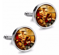 Gemelos de Camisa Magglass Ilustraciones Rosa de los Vientos Nº12 16mm