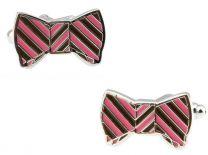 Gemelos de Camisa Pink & Brown Bow Tie