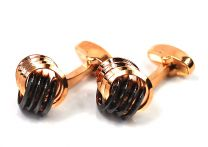 Gemelos de Camisa Rose Gold & Black Premium Knot