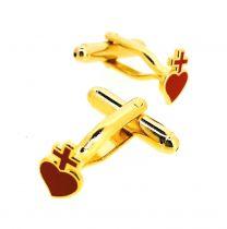 Gemelos para Camisa Sagrado corazón 10x7mm