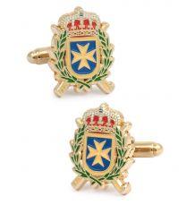 Gemelos para camisa del Escudo de la Inspección General de Sanidad de la Defensa