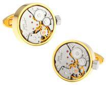 Gemelos Mecanismo de Reloj Vintage Gold 20mm