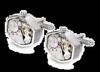 Gemelos Mecanismo Reloj Hexagonal con Movimiento Acero