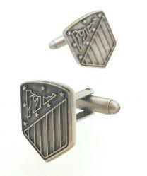 Gemelos para camisa Atletico de Madrid Escudo Nuevo Antique Silver