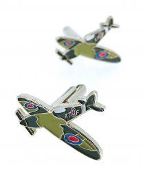 Gemelos para Camisa Avión Spitfire WWII