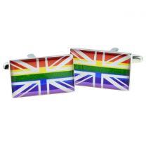 Gemelos para camisa Bandera de la Union Jack LGTBI