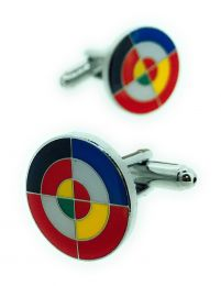 Gemelos para Camisa Bandera Escarapela Eurofighter