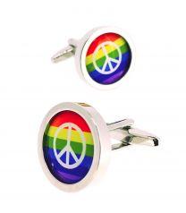 Gemelos para Camisa Bandera LGTB Paz