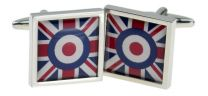 Gemelos para camisa Bandera Union Jack Símbolo MOD RAF
