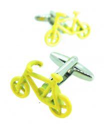 Gemelos para Camisa Bicicleta Amarilla
