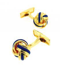 Gemelos para Camisa Blue Elegant Golden Knot