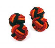 Gemelos para camisa Borla de Seda Bola Fucsia, Naranja y Negro