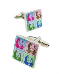 Gemelos para Camisa Collage de Osos Panda