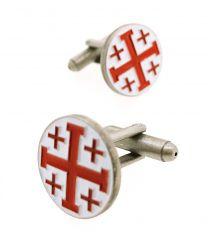 Gemelos para camisa Cruz de los Santos Lugares de Jerusalén