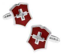 Gemelos para Camisa Bandera de Suiza