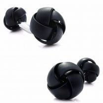 Gemelos para Camisa Rawjco Double Enamel Black Knot