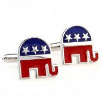 Gemelos para Camisa Emblema Partido Republicano de los Estados Unidos de América