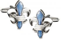 Gemelos para camisa Flor de Lys Blue and Steel