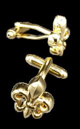 Gemelos de Camisa Flor de Lys gold 18x15mm