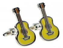 Gemelos para camisa Guitarra Amarilla