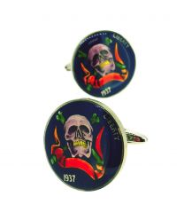 Gemelos para Camisa Hobo Coin Hot Skulls & Bones