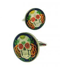Gemelos para Camisa Hobo Coin Skulls & Roses