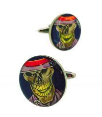 Gemelos para Camisa Hobo Coin Skull Soldier